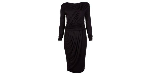 Dámske čierne šaty s dlhými rukávmi CeMe London