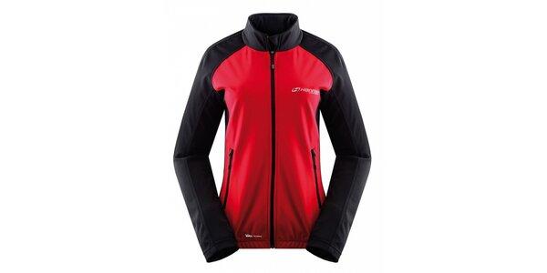 Dámska čierno-červená softshellová bunda Hannah