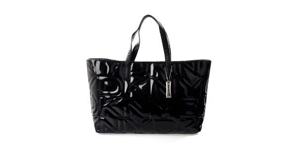 Dámska čierna prešívaná kabelka DKNY