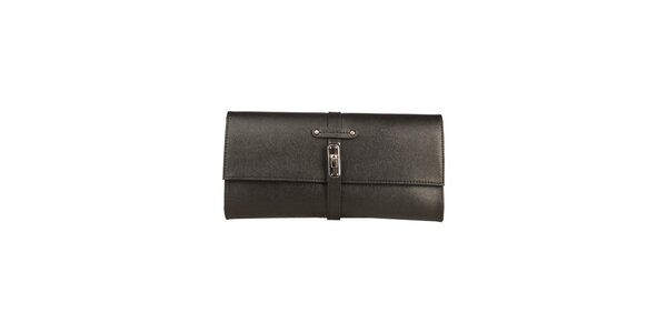 Dámska čierna listová kabelka Made in Italia