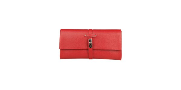 Dámska červená listová kabelka Made in Italia