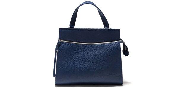 Dámska modrá kabelka s horizontálnym zipsom Isabella Rhea
