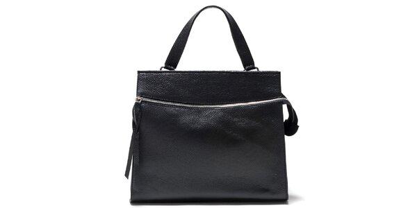 Dámska čierna kabelka s horizontálnym zipsom Isabella Rhea