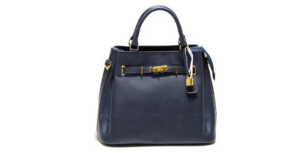 Dámska modrá kabelka so zámočkom Isabella Rhea