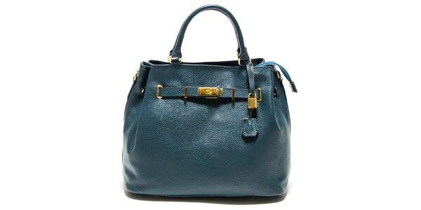 Dámska tyrkysová kabelka so zámočkom Isabella Rhea