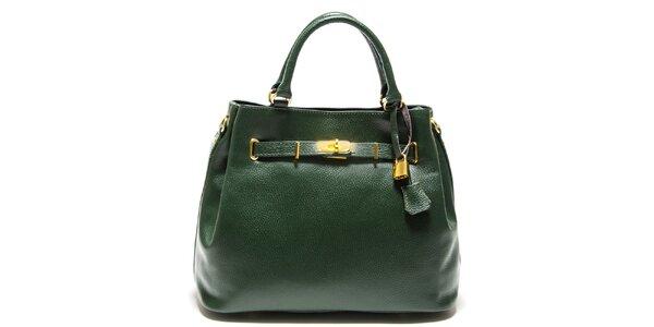 Dámska zelená kabelka so zámočkom Isabella Rhea
