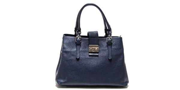 Dámska tmavo modrá kabelka so zámočkom Isabella Rhea
