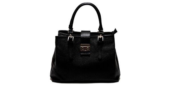 Dámska čierna kabelka so zámočkom Isabella Rhea