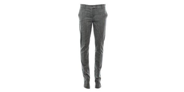Dámske vlnené nohavice so vzorom kohútej stopy Max Mara