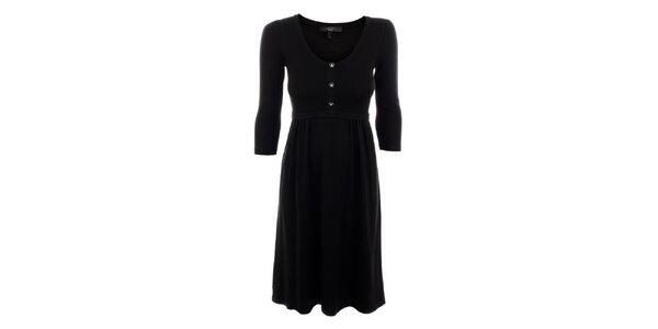 Dámske čierne vlneno-hodvábne šaty Max Mara