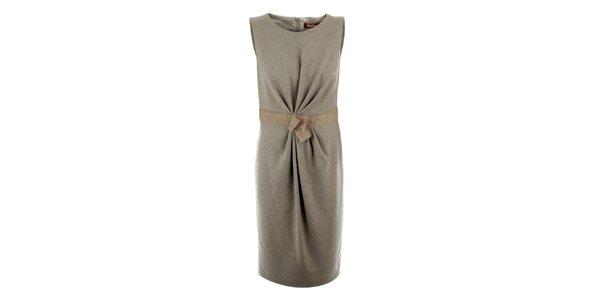 Dámske béžové vlnené šaty Max Mara