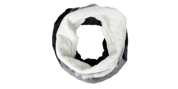 Dámsky bielo-šedo-čierny nákrčník Max Mara