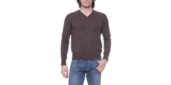 Pánsky hnedý sveter s kašmírom Ballantyne