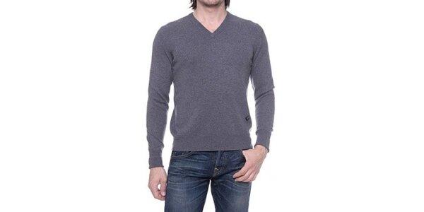 Pánsky šedý sveter s kašmírom Ballantyne