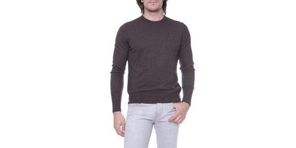 Pánsky tmavo hnedý sveter s kašmírom Ballantyne