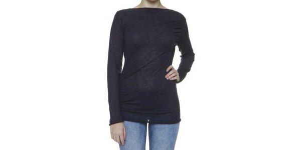 Dámsky modrý sveter so zavinovacím chrbátom Pierre Balmain