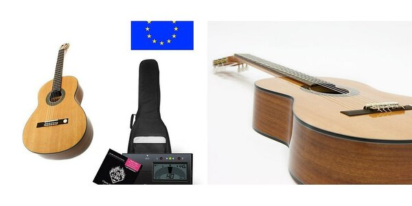 Klasická gitara vyrobená v španielskej dielni