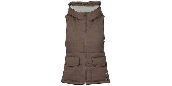 Dámska hnedá termo vesta Bench
