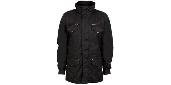 Pánsky čierny šusťákový kabát Bench