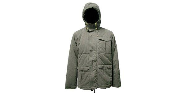 Pánska šedá bunda s kapucňou Bench