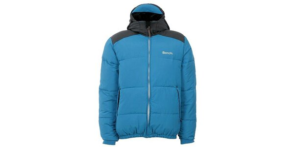 Pánska modro-čierna bunda s kapucňou Bench