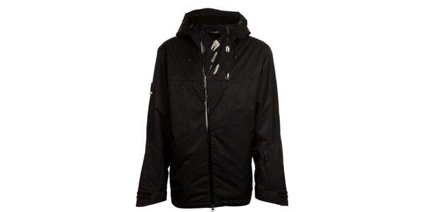 Pánska čierna šusťáková bunda s kapucňou Bench