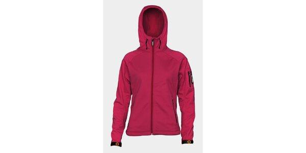 Dámska ružová softshellová bunda Sweep s kapucňou