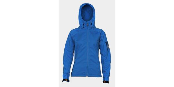 Dámska svetlo modrá softshellová bunda Sweep s kapucňou