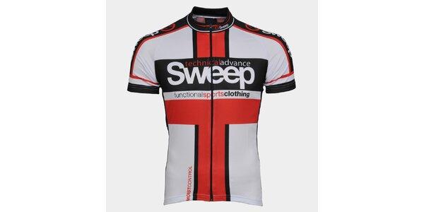 Bielo-červený cyklistický dres Sweep