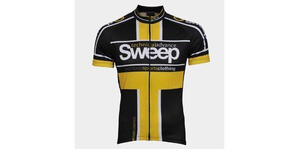 Žlto-čierny cyklistický dres Sweep