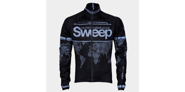 Čierno-šedá cyklistická bunda Sweep