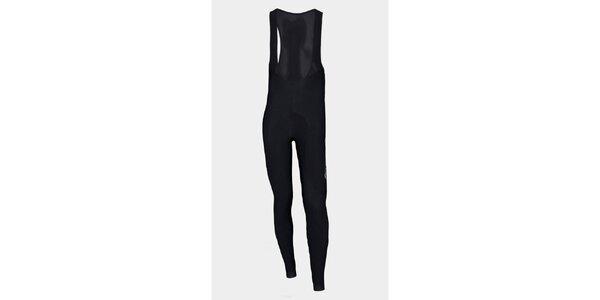 Čierne zateplené cyklistické nohavice Sweep