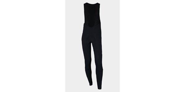 Čierne zateplené cyklistické nohavice Sweep s membránou NoWind