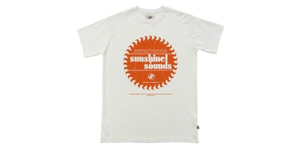 Pánske biele tričko s potlačou Seventy Seven