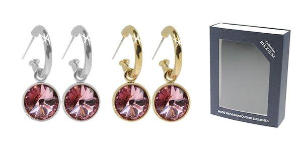 Krásne náušnice swarovski elements 22a50ea3ddb
