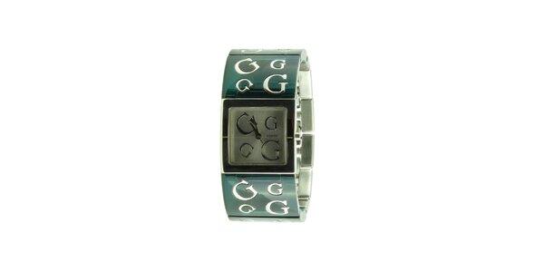 Dámske tmavo zelené náramkové hodinky Guess