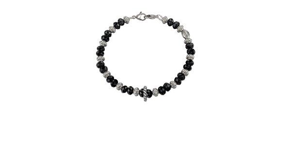 Dámsky strieborný náramok s čiernymi kamienkami EDC by Esprit