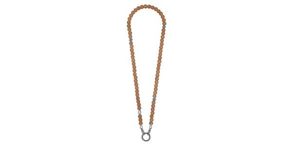 Dámsky dlhý náhrdelník s lososovými kamienkami EDC by Esprit