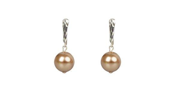 Dámske bronzové perlové náušnice Royal Adamas