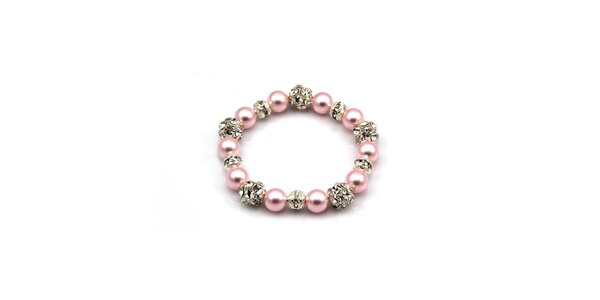 Dámsky ružový perlový náramok Royal Adamas
