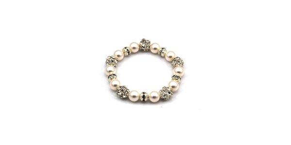 Dámsky trblietavý perlový náramok Royal Adamas
