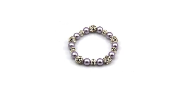 Dámsky fialkový perlový náramok Royal Adamas