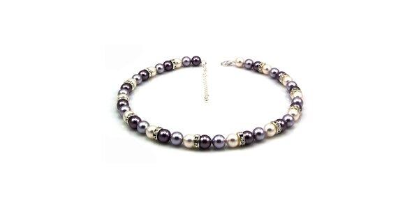 Dámsky perlový náhrdelník Royal Adamas so striebornými perlami