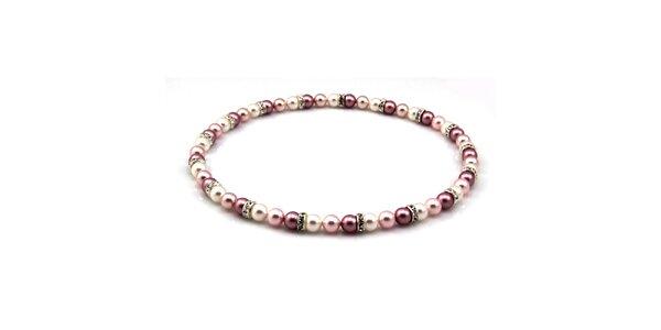 Dámsky perlový náhrdelník Royal Adamas s lila perlami
