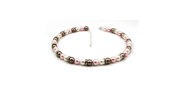Dámsky perlový náhrdelník Royal Adamas s pastelovo zafarbenými perlami