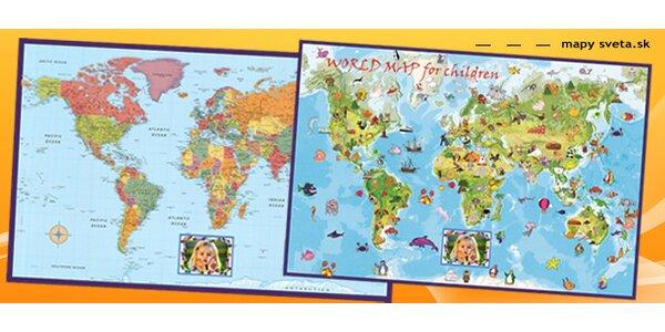 Mapa sveta PRE DETI a TÍNEDŽEROV s vlastnou fotografiou