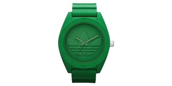 Pánske zelené hodinky Adidas s plastovým obalom
