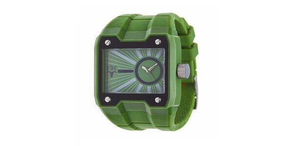 Zelené futuristické hodinky EDC by Esprit