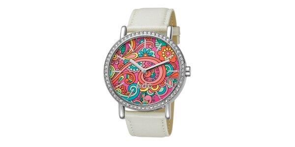 Dámske smotanové hodinky s farebným ciferníkom EDC by Esprit
