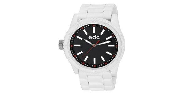 Dámske biele hodinky s čiernym ciferníkom EDC by Esprit